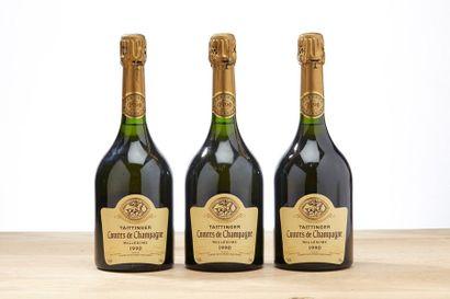 3 blles Champagne Comtes de Taittinger Blanc...