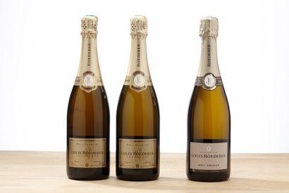 3 blles Champagne Brut Premier - NM - Louis...