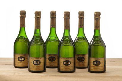6 blles Champagne brut intégral - 1975 -...