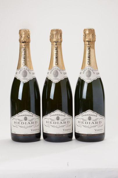 5 bouteilles champagne brut Hédiard