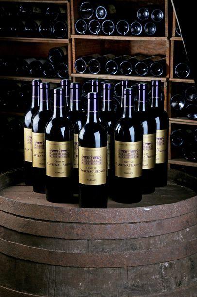 12 Blles Château Cantenac-Brown - 2015 -...
