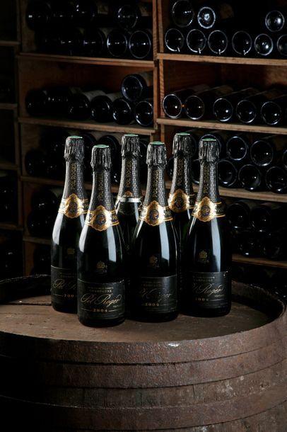 6 Blles Champagne - 2004 - Pol Roger    -...