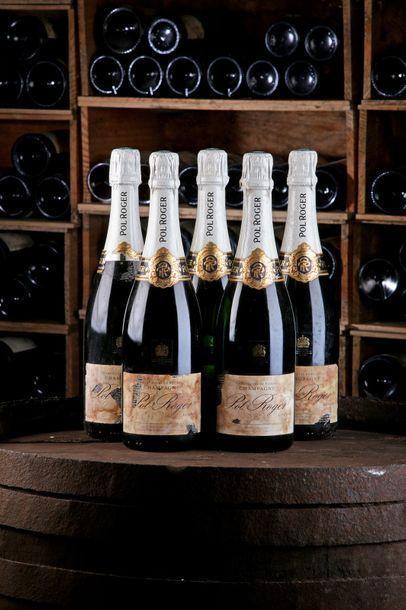 5 Blles Champagne - Non Millésimé - Pol Roger...