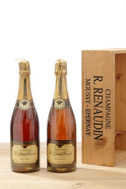1 Coffret 2 blles Champagne Renaudin brut...