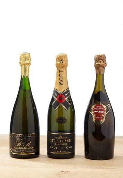 [MIX] LOT 3 blles Champagne Brut:    - 1...