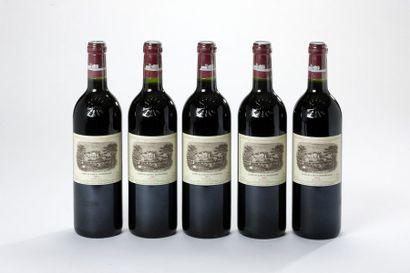 5 blles Château Lafite-Rothschild - 2002...