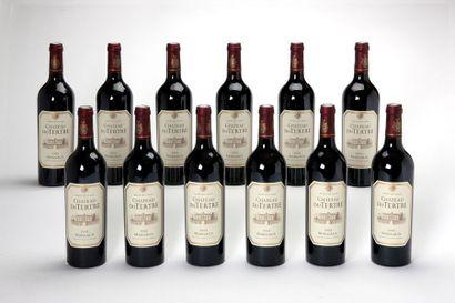 12 blles Château du Tertre - 2005 - Margaux 5e GCC    -état/ condition: parfait...