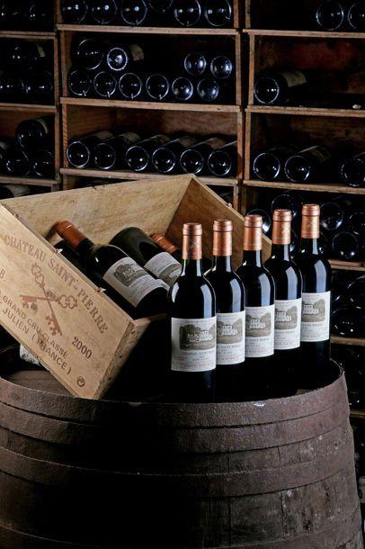 12 Blles Château Saint-Pierre - 2000 - Saint-Julien 4e GCC    - état/ condition:...