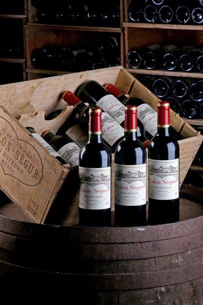 12 blles Château Calon-Ségur - 2003 - Saint-Estèphe...