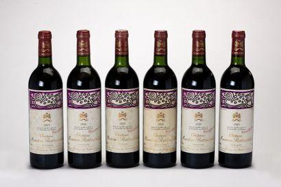 6 blles Château Mouton-Rothschild - 1988...