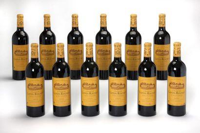 12 blles Château Lafon-Rochet - 2005 - Saint-Estèphe...