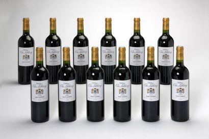 12 blles Château Cos Labory - 2005 - Saint...