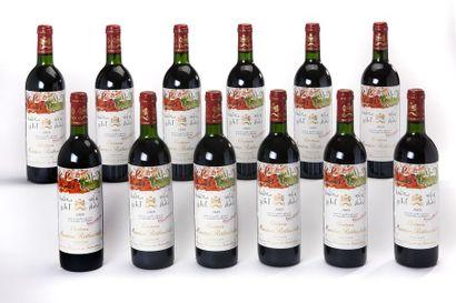 12 blles Château Mouton-Rotschild - 1989...