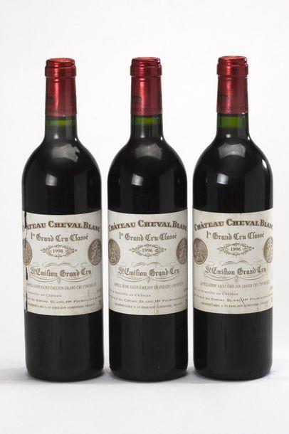 3 blles Château Cheval Blanc - 1996 - Saint-Emilion 1er GCC    -état/ condition:...