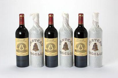 6 blles Château Angélus - 2002 - Saint-Emilion...