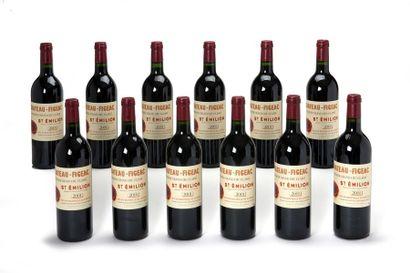 12 blles Château Figeac - 2001 - Saint-Emilion...