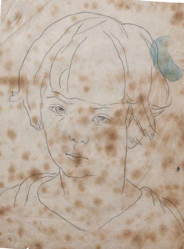 Alix AYMÉ (1894-1989) Jeune garçon Crayon sur papier 29 x 22 cm - 11 3/8 x 8 5/8...