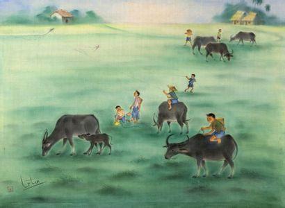 LE VAN TAN, ÉCOLE VIETNAMIENNE VERS 1970-80