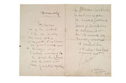 APOLLINAIRE Guillaume (1880-1918) Lettre autographe signée «Wilhelm» adressée à «mon...