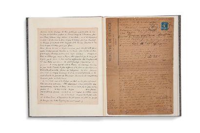 APOLLINAIRE Guillaume (1880-1918) Choses et gens de Courlande, manuscrit autographe...