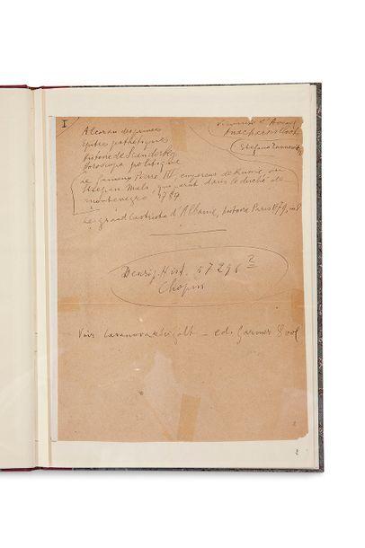 APOLLINAIRE Guillaume (1880-1918) Deux faux princes d'Albanie, notes autographes...