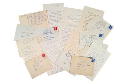 AYMÉ MARCEL (1902-1967) Dix lettres autographes signées adressées à Roger NIMIER...