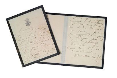 BERNHARDT Sarah (1844-1923) Deux billets autographes signés à un directeur de théâtre...