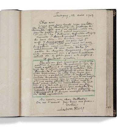 BLOY Léon (1846-1917) Les Dernières Colonnes de l'Église, manuscrit autographe signé,...
