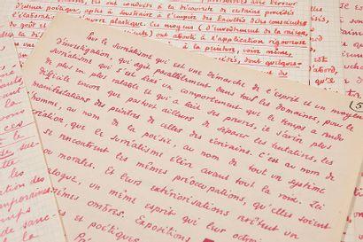 ÉLUARD PAUL (1895-1952), HUGNET GEORGES (1906-1974) Sous le jour surréaliste, manuscrit...