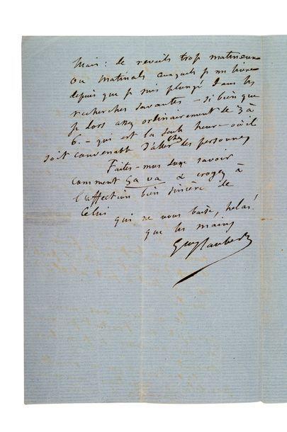 FLAUBERT Gustave (1821-1880) Lettre autographe signée adressée à Apollonie SABATIER...