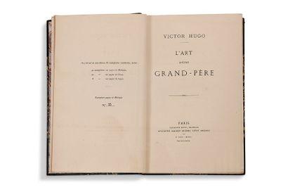 HUGO Victor (1802-1885) L'Art d'être Grand-Père Paris, Calmann-Lévy, 1877. Grand...
