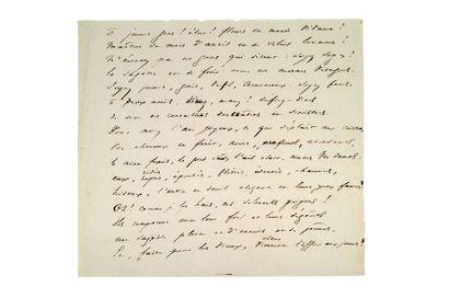 HUGO Victor (1802-1885) Ô jeunes gens! poème autographe 16 vers sur une page in-8...