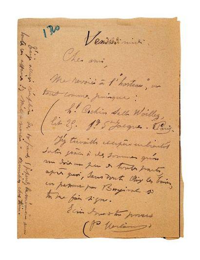 VERLAINE PAUL (1844-1896)