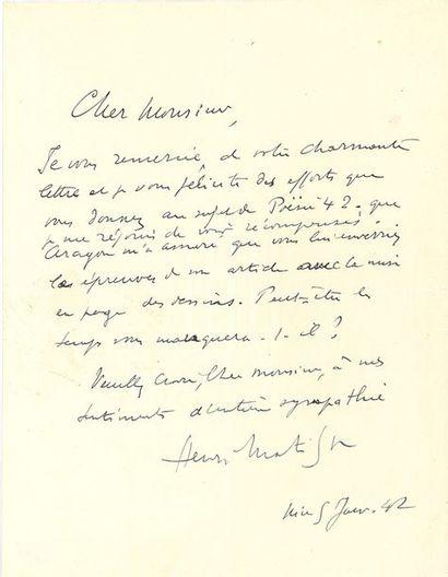 MATISSE HENRI (1869-1954).