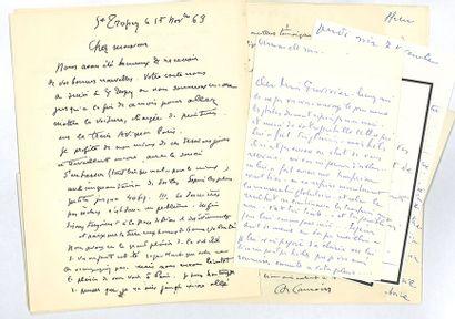 CAMOIN CHARLES (1879-1965). 8 L.A.S. et une L.S., Saint-Tropez, Paris ou Aix-en-Provence...