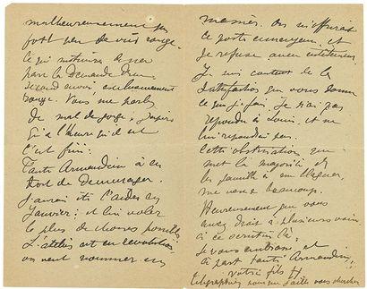 TOULOUSE-LAUTREC HENRI DE (1864-1901). L.A.S. «votre file H», [Paris juin-juillet...
