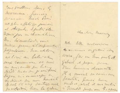 TOULOUSE-LAUTREC HENRI DE (1864-1901). L.A.S. «Harry», [Paris septembre 1891], à...