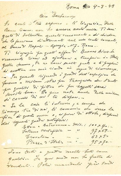 CHIRICO GIORGIO DE (1888-1978).