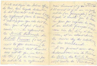 CHIRICO GIORGIO DE (1888-1978). L.A.S. «G. de Chirico», Rome 14 mai 1955, à Marcello...
