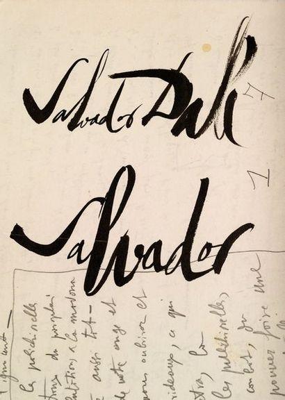 DALI Salvador (1904-1989). L.A.S. «Salvador Dali» et une lettre dictée à sa femme...