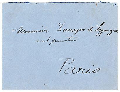 DUFY RAOUL (1877-1953). L.A.S. «Raoul Dufy», Salins-les-Bains [mai 1939], à André...