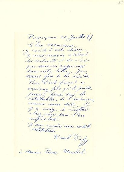 DUFY RAOUL (1877-1953).
