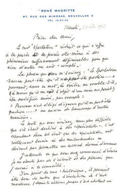 MAGRITTE RENÉ (1898-1967).
