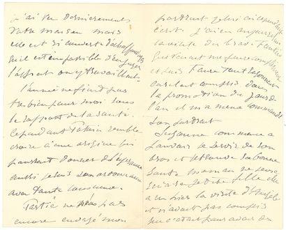 MANET ÉDOUARD (1832-1883). L.A.S. «Edouard Manet», Paris 29 décembre [1881], à sa...
