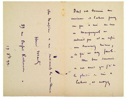 MARTIN HENRI (1860-1943). 189 L.A.S. «Henri Martin» ou «HM», 1899-1927, à Émile TOULOUSE;...