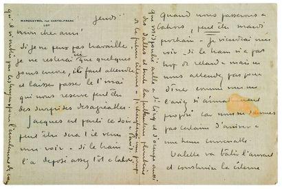 MARTIN HENRI (1860-1943). 389 L.A.S. «Henri Martin» ou «HM», 1899-1927, à Émile TOULOUSE;...