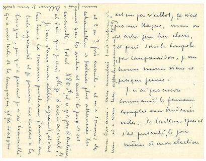 MARTIN HENRI (1860-1943). L.A.S. «HM», [fin 1917], à un ami; 4 pages in-8. Après...