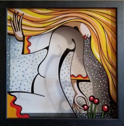 2 peintures laque d'Alfredo LOPEZ intitulées...