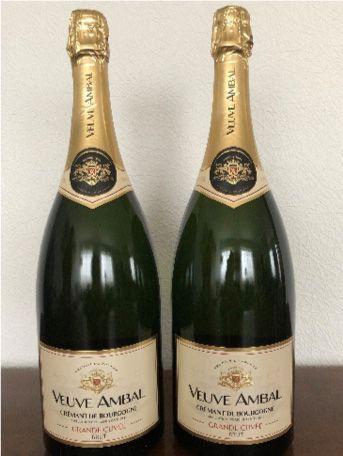 2 Magnums Crémant de Bourgogne Blanc de Blancs...