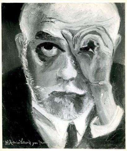 ZHU YUANZHI 朱沅芷 (1906-1963), DIT YUN GEE Rêve , 1927 臆想 Huile sur toile, signée en...